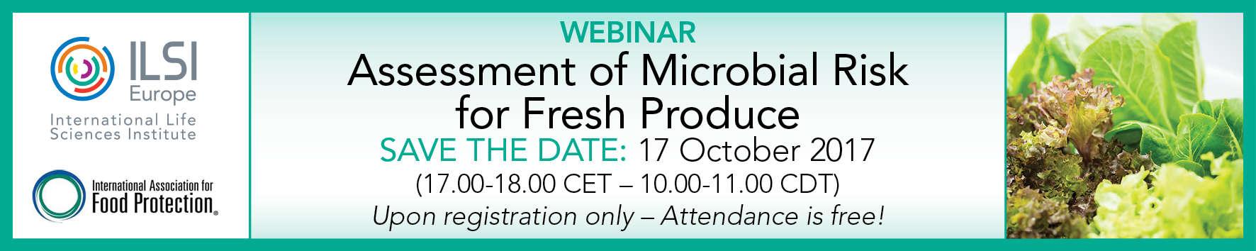 ILSI / Webinar on 'Assessment of Microbial Risk for Fresh